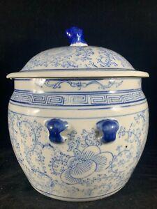 Chinese Antique Blue and White Porcelain Jar Ceramic Pot