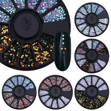 1 Box 1mm Mixed Color 3D Nail Art Decoration Round Wafer Design Decor