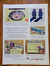 1958 GE General Electric Wash Dryer Ad  Filter-Flo Washer
