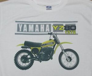 1978 Yamaha YZ80 graphic T-Shirt - Sharp Vintage Image - Men Small to 3XL - NEW
