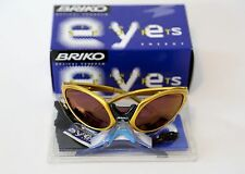 Briko Jumper sunglasses NOS Made in Italy yellow/gold cipollini pantani