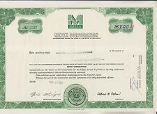 1967 METEX CORPORATION STOCK CERTIFICATE  - DELAWARE