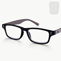 NEW RIMMED READING GLASSES READERS & MATCHING POUCH - MANY STRENGTHS & COLOURS