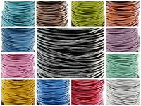 "Genuine Round Leather Cord 2 MM 3/32"" DIY Craft Making Supplies - Choose Color"