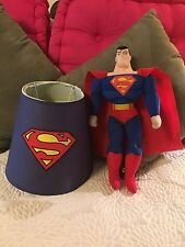 "Kids Superman Lampshade/DC Comics/Doll 17"" Toy Factory/ Vivid Colors/Rare Find!"