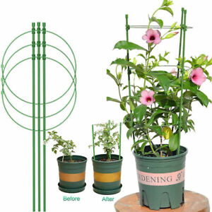 Conical Garden Plant Support Ring for Different Sized Pots Support Flowers Stalk
