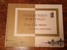 Collectors Portfolio of Gold Etch Prints By Lionel Barrymore