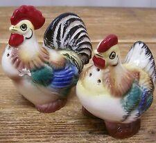 Chicken Hen Rooster Salt Pepper Shaker Vintage Figural Figurines