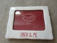 NEW RAE DUNN Christmas SANTA AND ME Photo Frame 5x7 White Red