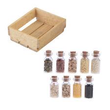 Puppenhaus Miniatur Holzkorb Glas 1/12 Küchenmöbel