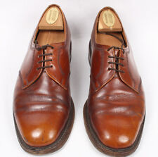 Mens Vintage LOAKE Tiverton Brown Lace-Up Derby Shoes Size UK 8