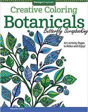 BOTANICALS Coloring Book For Markers & Colored Pencils Design Originals New