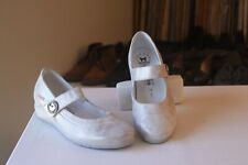 Mephisto Mobils Metallic Silver Leather Mary Janes Comfort Shoes US Size 7.5
