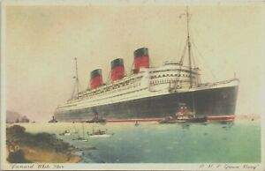 RMS QUEEN MARY, CUNARD LINE, ADVERTISING - Shipping Postcard
