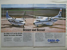 6/1985 PUB CASA CN-235 CN-212 AVIOCAR AIRCRAFT FLUGZEUG AVION ORIGINAL GERMAN AD