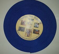 Carter Pet Supply 1 Inch Blue Heavy Nylon Webbing 50 Yards USA MADE