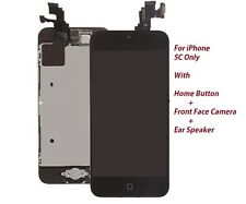 New Iphone 5C Black LCD Touch Digitizer Glass Screen Assembly with Home Button