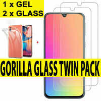 Gel Case For Samsung Galaxy A20e A40 A50 A10 A70 Gorilla Glass Screen Protector