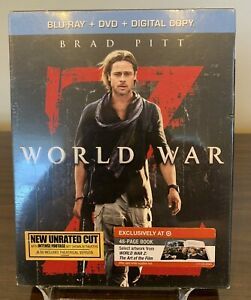 World War Z (Blu-ray/DVD, 2013, 2-Disc Set, Unrated) Deluxe Edition w/ Mini Book