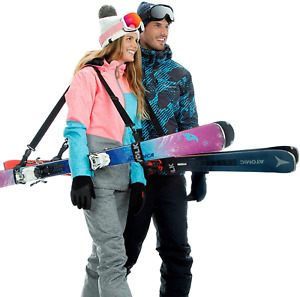 Volk Ski Strap and Pole Carrier 2 Pack -  Adjustable Size Great for Men, Women a