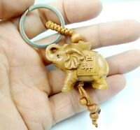 45*33MM Hand-carved Elephant  Wooden Crafts,Key Chain,Key Ring Lover G12