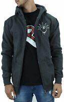 YLD Men's Charcoal Zip Up Hoodie, New Jacket Hip Hop Star Era, Is Time Money G