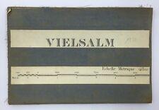 1934 CARTE topographique toilée MILITAIRE • VIELSALM Saint-Vith Recht Bovigny…