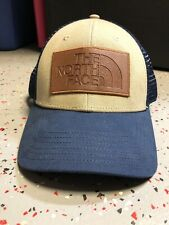 The North Face Men's Trucker Mesh Baseball Cap Hat Beige Navy Blue New with Tags