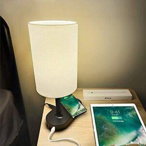 lampara noche carga inalambrica cargador celular adaptador pared salida usb