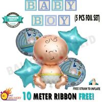 5pcs Newborn Baby Shower Boys Girl Foil Balloons Set For Birthday Party Decor UK