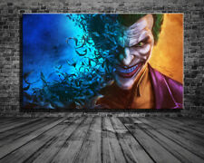 Original Modern Wall Art Print Painting on Canvas, The Batman&Joker,DC Heros