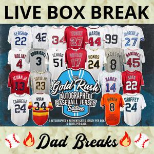 OAKLAND ATHLETICS Gold Rush autographed/signed baseball jersey LIVE BOX BREAK