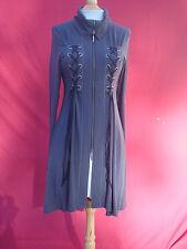 NWT Eva Varro Charcoal Long Sleeve Handcrafted USA Turtle Neck  Women Dress L