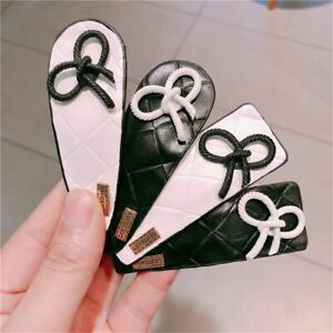 Hair Clip Rhinestones Leather Butterfly For Women Girls Fashion Head Accessories