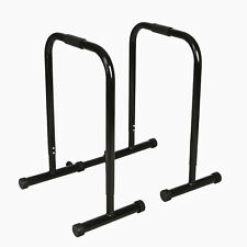 Fitness Black Dip Station Adjustable Bars Body Weight Parallettes Push Up Bar