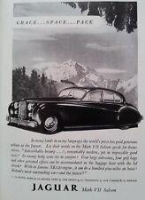 Publicité 1952 Jaguar Mark VII Saloon automobile