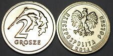 2014 Poland New Style 2 Grosze Coin BU Very Nice KM # 924