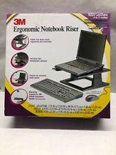 3M Ergonomic Laptop Notebook Riser LX500 - Black Laptop Stand New Open Box D1
