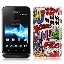 Hardcase für Sony xperia Tipo Dual St21i Graffiti Comic bunt Hülle Schutzcase