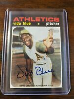 2020 Topps Heritage High Number VIDA BLUE Real One Autograph Auto ATHLETICS