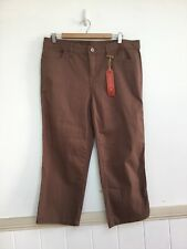 New Target Au 16 $39.99 Brown Mid Rise Straight Mocha Brown Crop Pants Jeans