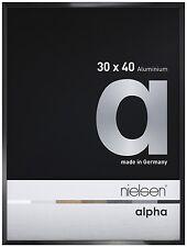 Cadre photo Alpha Nielsen noir poli 50x70cm
