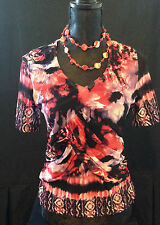 Polyester Short Sleeve Unbranded Multi-Colored Tops & Blouses for Women