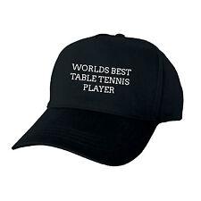 Mundos Mejor jugador de tenis de mesa regalo de fin de año escolar Uni club Cap Hat