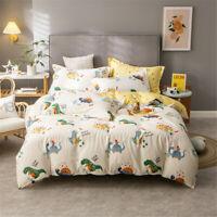 Dinosaur Yellow Single/Double/Queen/King Bed Duvet/Quilt/Doona Cover Set Cotton