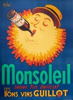 Original Vintage Poster - Robys - Monsoleil The Fine Guillot Wine - 1940