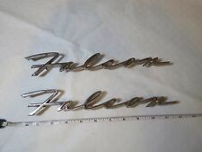1963 Ford Falcon Wagon '63 Falcon Emblems set 2 C3DB16098A vintage closed letter