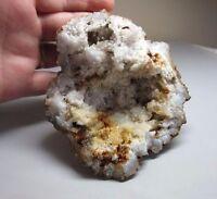 Quartz druzy crystal geode rock specimen. Indiana