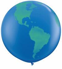 Giant 3ft Qualatex Planet Earth Globe Dark Blue Balloon Original Decoration x1