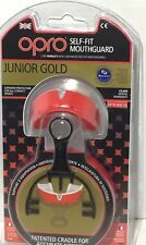 Opro Junior Gold Level Self Fit Antimicrobial Mouthguard Ages Up To 10 New Red